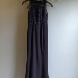 Lulu's Formal Maxi Dress with Lace